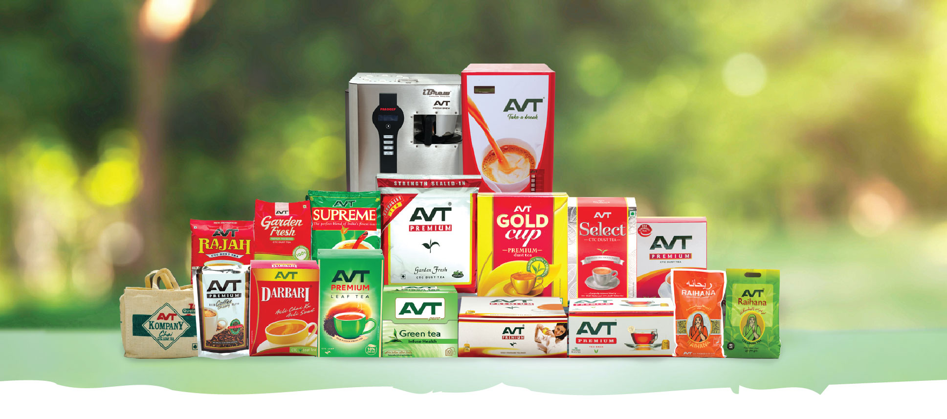 AVT Products | Tea, Coffee, Spices, Vending Machines | AVT
